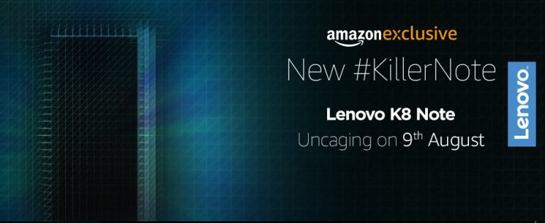 Lenovo K8 Note launching in India on 9th August, to be available on Amazon