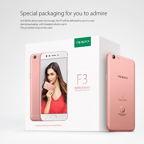 OPPO F3 Deepika Padukone Limited Edition launched in India