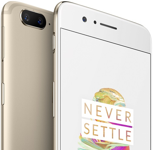 The OnePlus 5 is now available in gold