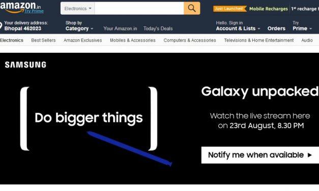 Samsung Galaxy Note8 launching in India soon via Amazon