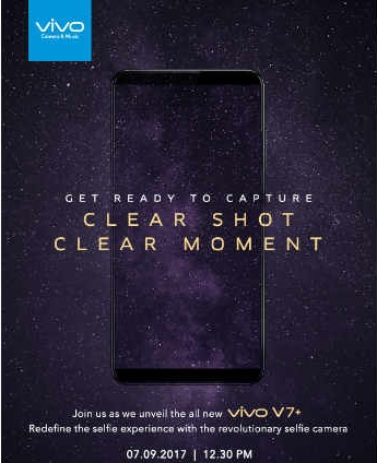 Vivo V7 and Vivo V7 Plus with 24 MP selfie camera launching in India on 7 September