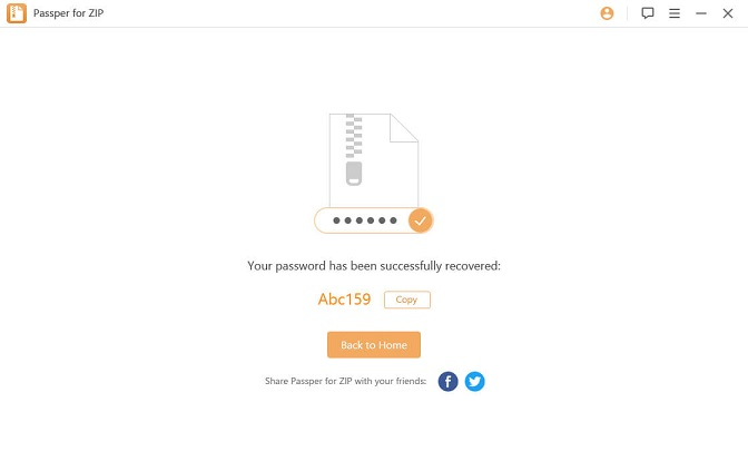 zip file password retrieved